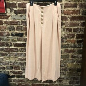 Nwt Top Shop Linen Wide Leg Pants
